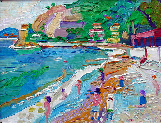 Fred yates oil painting eze sur mer provence for Painting for sale by artist