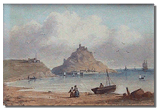Victorian watercolour - possibly Mont St. Michel